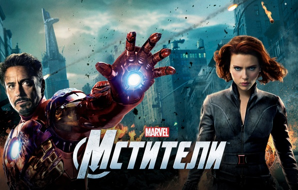 Picture fiction, Scarlett Johansson, Scarlett Johansson, Iron man, poster, Iron Man, comic, Black Widow, Robert Downey ...