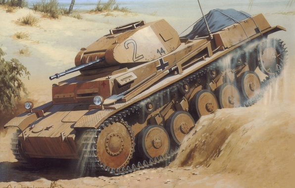 Picture sand, figure, Tank