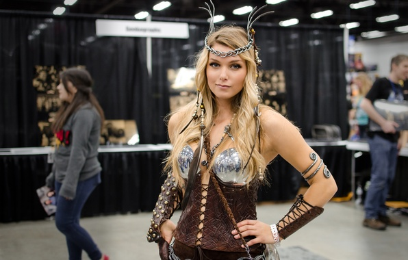 Picture girl, Valkyrie, cosplay, cosplay, valkyrie