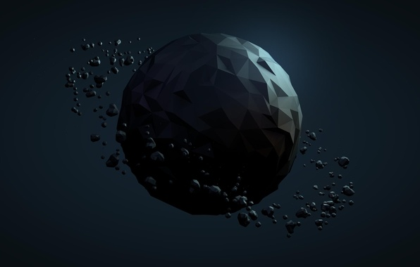 Picture abstraction, planet, ball, sphere