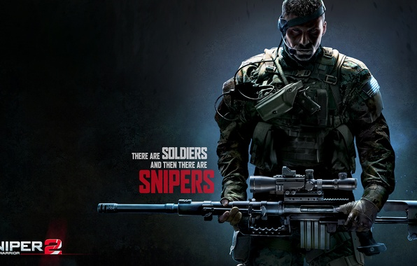 Picture gun, weapons, soldiers, camouflage, Sniper, sniper rifle, the vest, Sniper: Ghost Warrior 2, Snipers