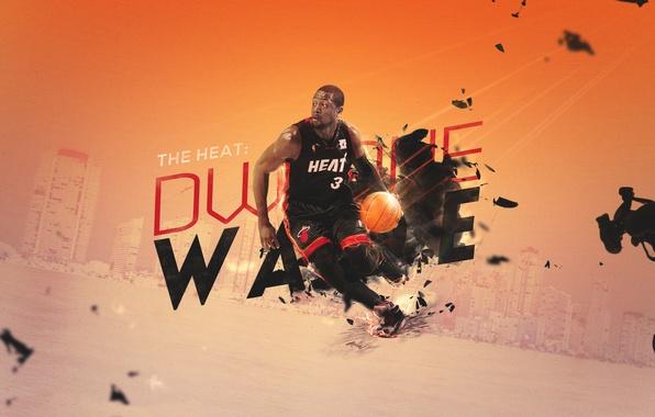 Picture Miami, Sport, Basketball, Miami, NBA, Heat, Hit, Player, Famous Stars Dwayne Wade, Dwyane Wade