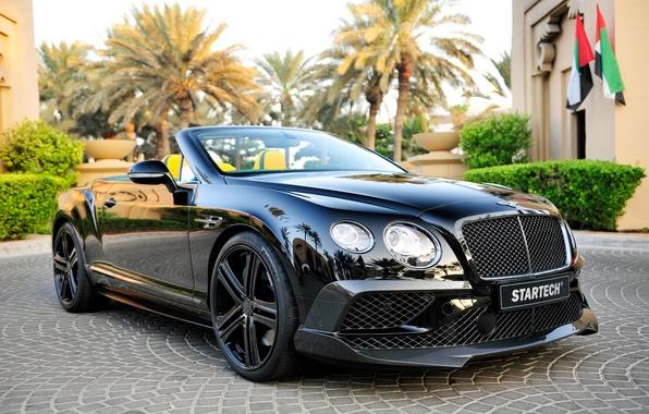 Picture black, Bentley, Continental, convertible, Bentley, continental, Startech
