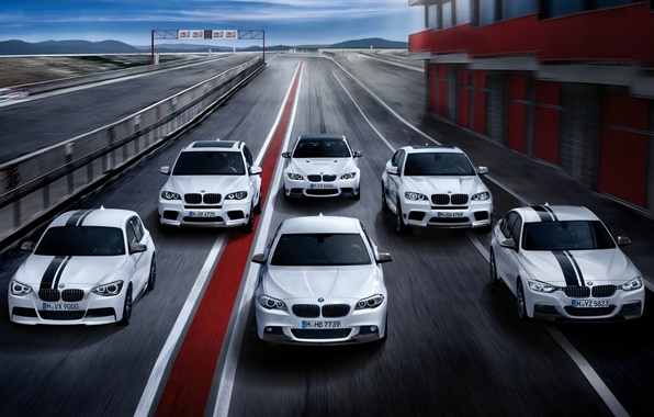 Picture BMW, racing track, mixed, 5 Series, 3 Series, 1 Series