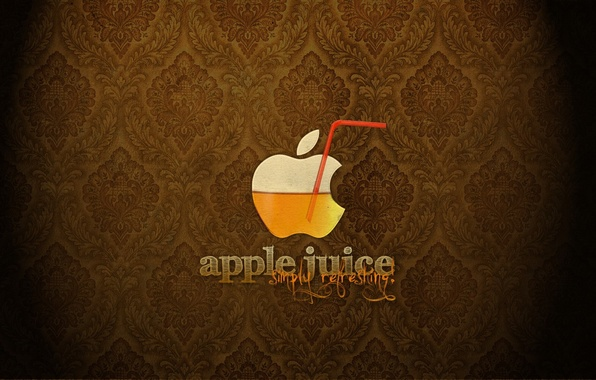 Picture Apple, logo, juice, tube