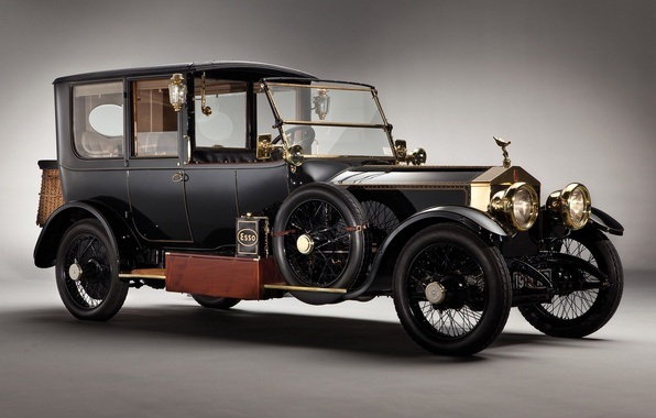 Picture retro, Ghost, car, Silver, Rolls-royce, 1915