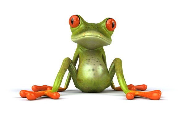 Picture pose, graphics, frog, sitting, Free frog 3d