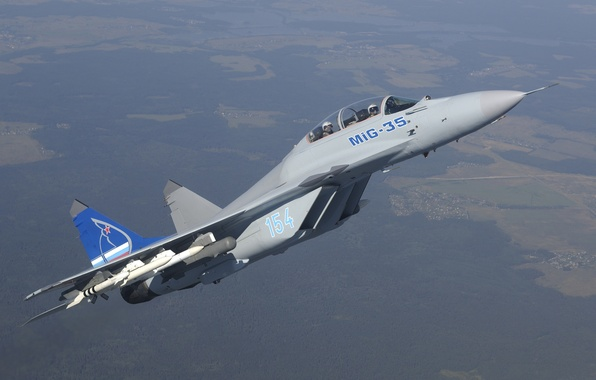 Picture flight, height, fighter, the area, missiles, multipurpose, The Russian air force, MiG-35D, MIG 35D, generation …