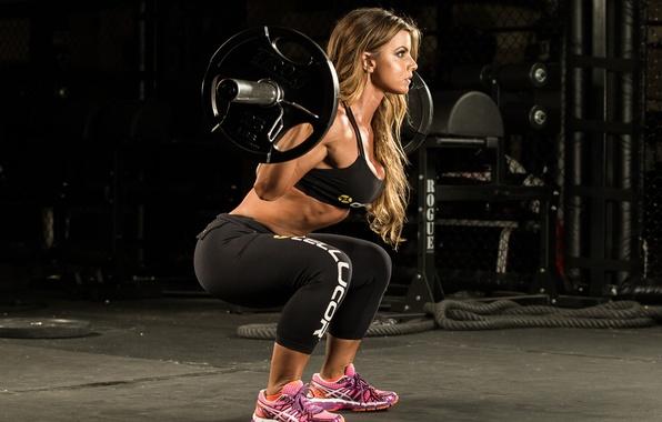Photo wallpaper fitness, gym, Squats