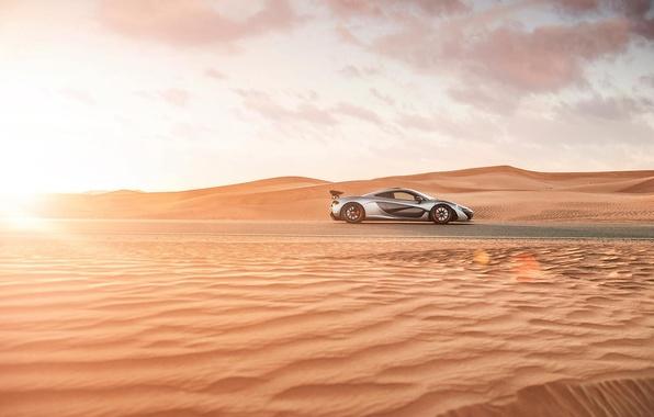 Picture sand, desert, supercar, mclaren p1, hypercar