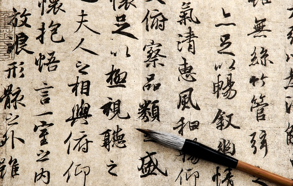 Picture paper, ink, Chinese characters, papyrus