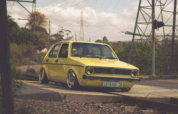 Picture volkswagen, golf, tuning, germany, low, mk1, stance