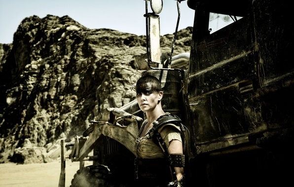 Picture Charlize Theron, Charlize Theron, postapocalyptic, Mad Max, Fury Road, Mad Max, this moment, Road rage