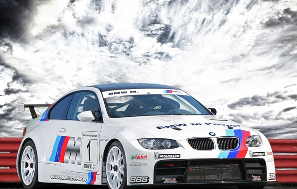 Picture the sky, clouds, BMW, the fence, BMW, GT2, Tuning, CLP, (E92)
