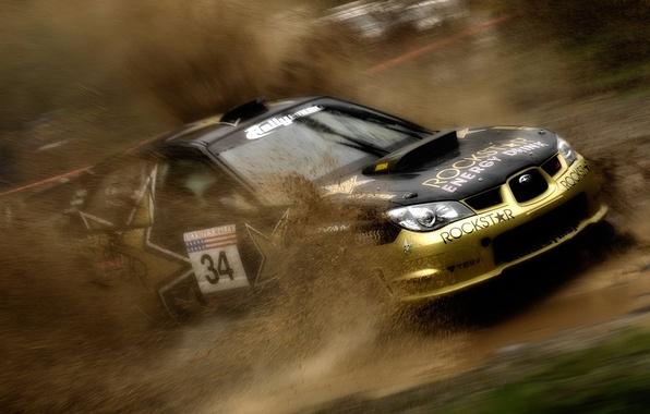 Picture dust, turn, subaru, rally, rally, wrx, impreza, Subaru, energy, sti, Impreza, rockstar