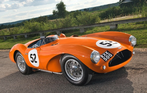 Picture orange, Aston Martin, 1953, classic, the front, Aston Martin, beautiful car, DB3S