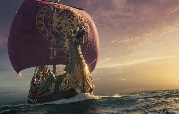 Picture sea, ship, sails