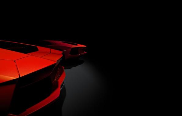 Picture two, Lamborghini, Lamborghini, red, red, ass, Lamborghini, LP700-4, Aventador, Aventador