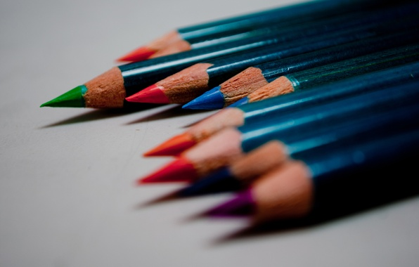 Picture macro, colored, color, pencils, drawing
