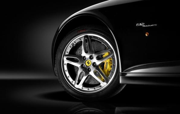 Picture black, wheel, Ferrari, disk