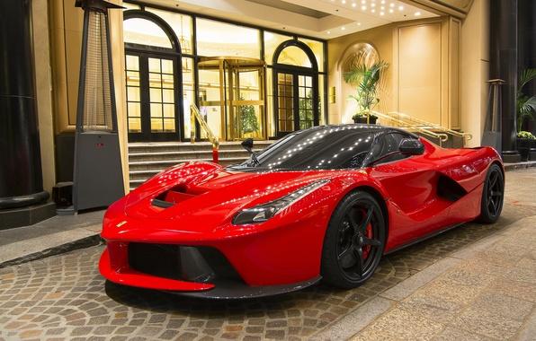 Picture red, Ferrari, sportscar, Ferrari LaFerrari