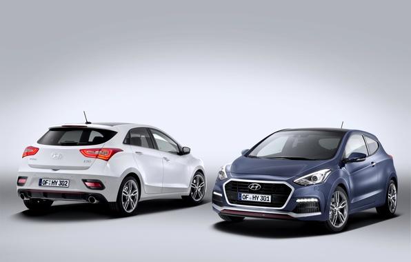 Picture photo, Hyundai, Cars, Two, 2015, i30 Turbo