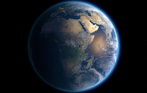 Picture space, earth, planets