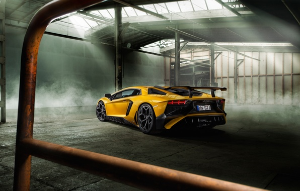 Picture auto, yellow, Wallpaper, Lamborghini, supercar, back, Aventador, Lamborghini, Novitec, Torado, LP 750-4