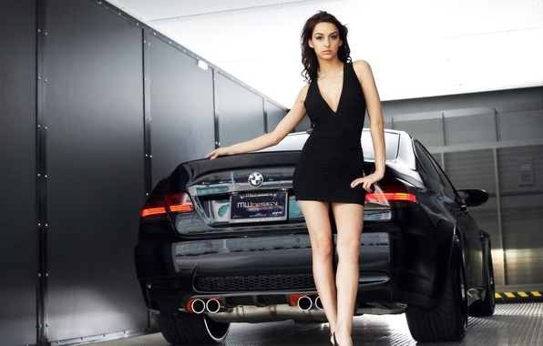 Picture girl, BMW, Black