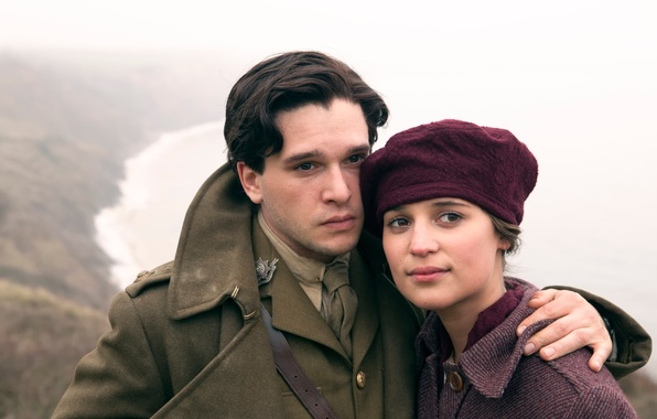 Picture Kit Harington, Alicia Vikander, in the film, Testament of Youth, Memories of the future, separated …