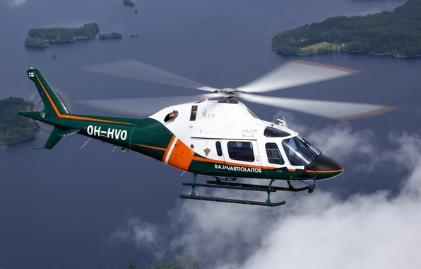 Picture flight, helicopter, blades, AW 119
