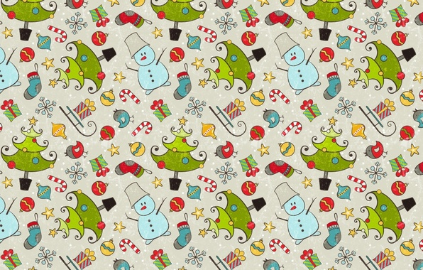 Picture mood, holiday, gift, texture, New year, snowman