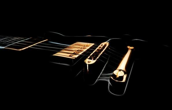 Picture background, black, guitar, strings, Grif, pickup, DECA, shape