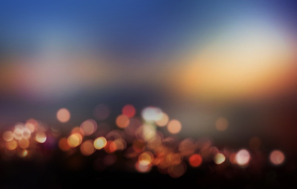 Picture light, night, city, the city, lights, lights, paint, colors, light, night, bokeh, bokeh, 1920x1080