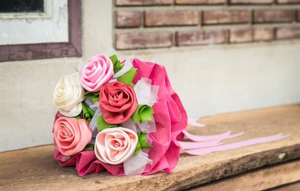 Picture flowers, background, widescreen, Wallpaper, tenderness, roses, bouquet, blur, fabric, wallpaper, flowers, Atlas, widescreen, flowers, background, …