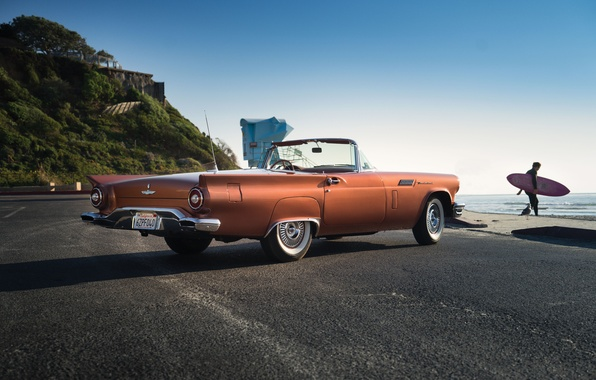 Picture road, Ford, Ford, classic, Special, 1957, Supercharged, Thunderbird, T-Bird, Thunderbird