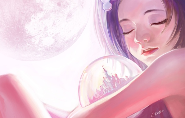 Picture dream, sleep, art, girl