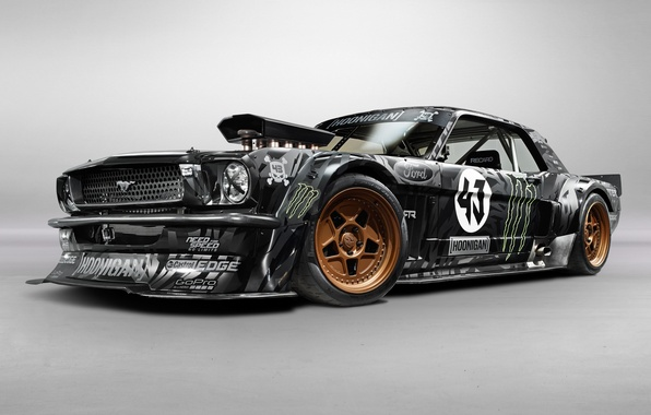 Picture Mustang, Ford, Front, 1965, RTR, Block, Ken, Gymkhana, Hoonicorn, SEVEN, 845 hp