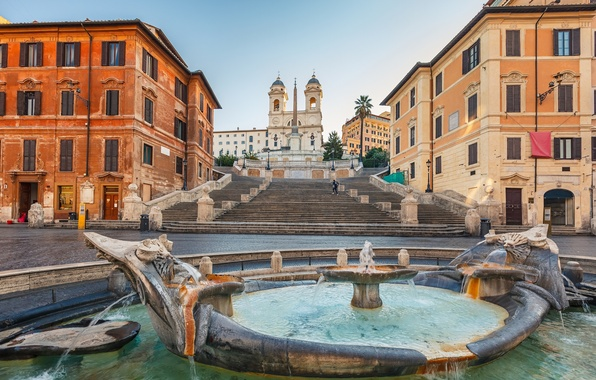 Picture the city, the building, Rome, fountain