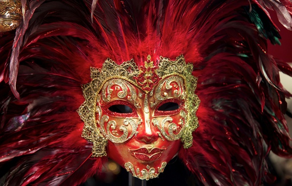Picture MASK, PAINT, COLOR, FEATHERS, MASQUERADE