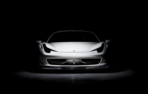 Picture white, white, ferrari, Ferrari, Italy, the front, 458 italia, tinted