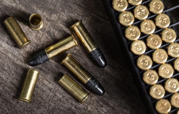 Picture metal, bullets, ammunition, caps, lead