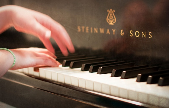 Picture music, hands, piano