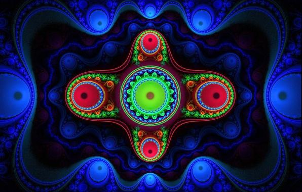Picture light, pattern, color, fractal, twilight, symmetry
