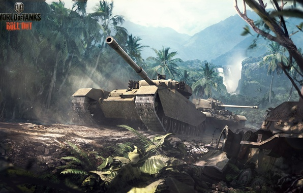 Picture jungle, art, tank, UK, tanks, world of tanks, wot, tank