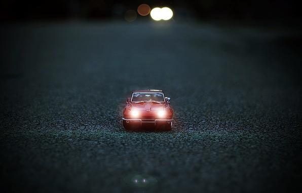 Picture road, machine, macro, toy