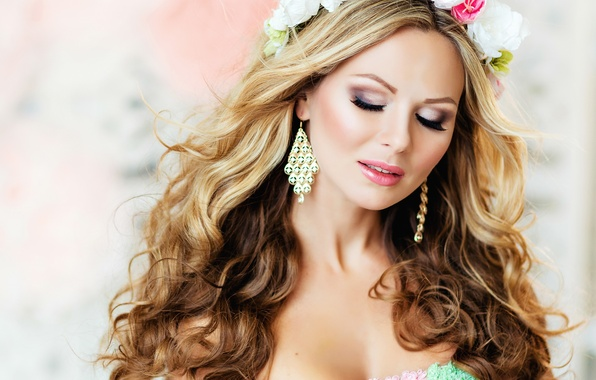 earrings girl hair makeup - photo #7