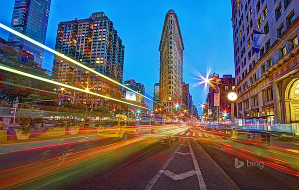 Picture lights, street, home, New York, hdr, USA, IRON