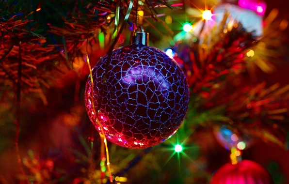 Picture light, holiday, toy, new year, ball, tree, new year, tinsel