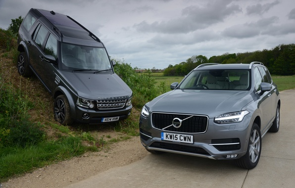 Picture Volvo, Land Rover, Discovery, XC90, Volvo, discovery, land Rover, 2015